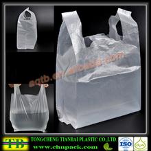 T shirt shape sizes customized plastic retail shopping bag