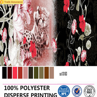 Disperse print bedding textiles fabric for home and hotel