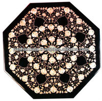 Mother Of Pearl Inlay Marble Coffee Table Top