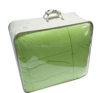 Clear pvc zipper quilt bag packaging plastic bag household textile pvc steel wires bag