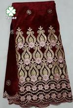 wholesale high quality wine red velvet for making dress
