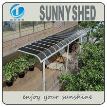 garden awnings aluminum frame polycarbonate awning