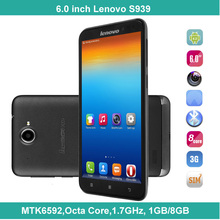 cheapest Lenovo S939 3G Smart phone 1280x720 HD MTK6592 Octa Core 1.7GHz China Brand mobile Phone
