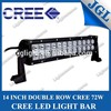 100% low price!15% disount 72w led trailer bar light 12v 72v Cree led tractor bar light