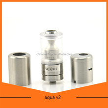 Bulk buy from China stainless steel e-cigarette aqua rda atomizer for wholesale