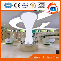 2015 Popular interior decoration products stretch pvc protective ceiling film