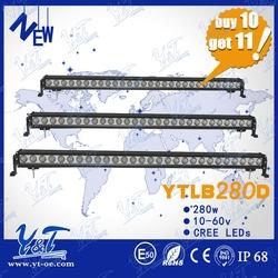 Newest mini light bar 280w c.r.e.e led for truck car warning light 51.5inch auxiliary led work light bar