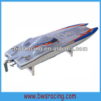 Gas powered remote control rc racing speed boat