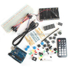 Experiment Starter Kit XD35 Practical UNO R3 1k 10k Resistor Buzzer Digital Tube Sensor LED Module Set Works with low price