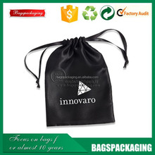 custom silk screen printed satin bag with logo