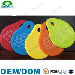 Meskware spatulart measurement conversion rubber silicone bowl scraper