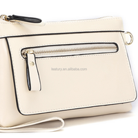 2015 lady white leather handbag of pu material