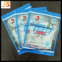 High quality cheap price durable heat seal sugar packaging bag/sugar packing plastic bag