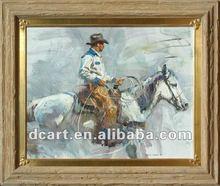 Cowboy Portrait Art Oil Painting