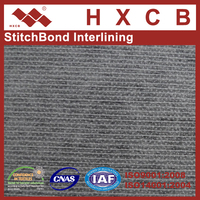 (6017WG)100% Polyester PA Double Dot Stitch Bonded Clothing Nonwoven Interlining Fabric