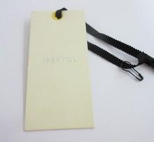 Custom Garment Scarf Tag Screen Printed Cheap Clothing Hang Tag