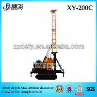 crawler chasis hydraulic XY-200C exploration core drills, can drill depth 200m,hole diameter 400mm