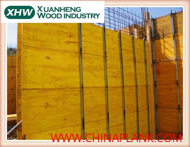 chinois sapin jaune moins cher prix construction buidling trois couche panneau de coffrage. Black Bedroom Furniture Sets. Home Design Ideas