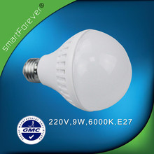 A type 9W 220V E27 LED Lamp bulb With Plastic Shade Factory Supplier