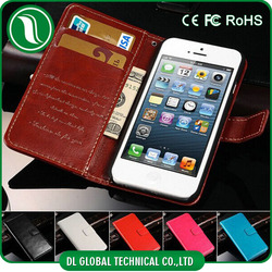 wallet case for iphone 5, leather wallet case for iphone 5, for iphone 5 flip case