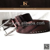 100% cowhide genuine latest personalized leather belts