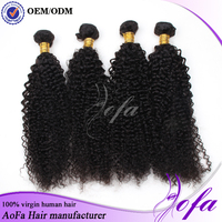 Unprocessed 7A grade best seller 100% virgin brazilian kinky curly hair for African American women