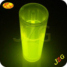 Wholesale china factory led flashing cup chemical glow light up plastic cups custom logo glowing cup