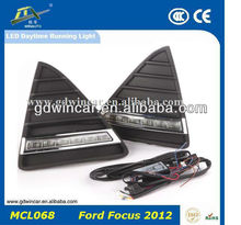 2015 Good Products Durable Waterproof Long Range Easy Installation LED Running Machine DRLs For Ford Focusi 2012