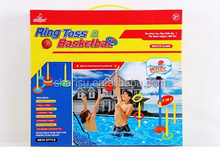 kids sports waterful ring toss basketball hoop stands board set
