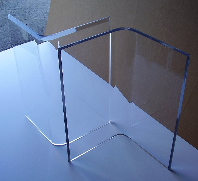 Superbe Clear Acrylic Dining Table Base 1 ...