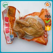 custom printed heat seal food packing plastic vacuum bag
