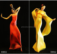 Alibaba Wholesale christmas decoration Arts and Craft Sexy Dancing resin woman statue for Home decoration Craft Gift