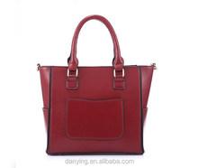 2015 fashion lady bag geniune leather handbag