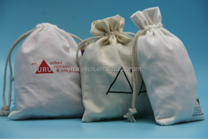 Yuanjie wholesale 100% unbleached cotton fabric drawstring bag,100% cotton canvas bags cotton picking bags for sale