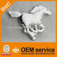 Chrome ABS horse car badge logos