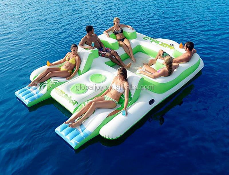 Tanche l 39 air gonflable le flottante pour vente parc aquatique quipe - Ile flottante gonflable ...