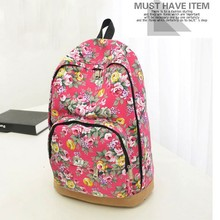 Hot style Women's Vintage Floral Canvas Travel/School Backpack SV007698