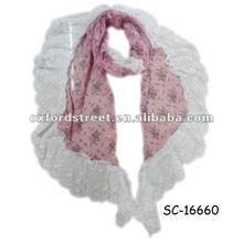 2012 Spring Flower Printed Lace Scarf