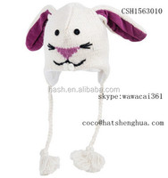 Bunny knit funny adult animal winter hats