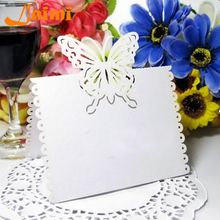 Laser Cut Butterfly Wedding Birthday Christmas Table Decoration Place Name Cards Party Favors Wedding Free Shipping