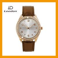 luxury japan movement genuine leather diamond quartz watches