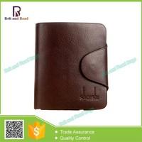 Wholesale Cheap Soft Leather Wallet Hasp Closure Bifold Men's Wallet