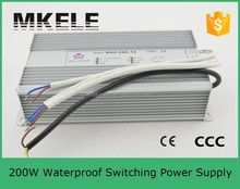 FS-200-12 professional waterproof ip67 switch dc regulated power supply 200w metal case 12v 200w adapter