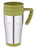 advertising western stainless steel coffee mug cup with handle