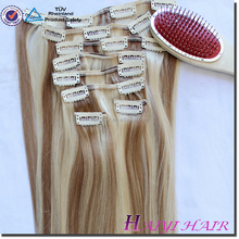 super quality silky straight Brazilian Tangle and Shedding free thick remy 20 inch malaysian hair clip in