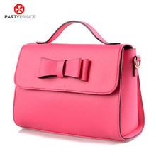 las niñas partyprince <span class=keywords><strong>rojo</strong></span> puro color casual impermeable bolso de cuero bolso