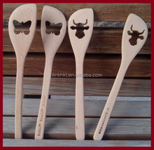 High quality Wooden Spatula with custom shaped hole