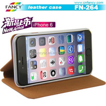 2015 hot sale mobile phone leather case for iphone 5