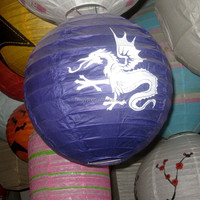 Chinese Dragon pattern paper lantern balloons in event supplies