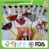 United states colorful mini clown wooden decorative toothpicks christmas